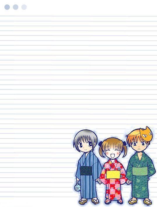 papier à lettre manga